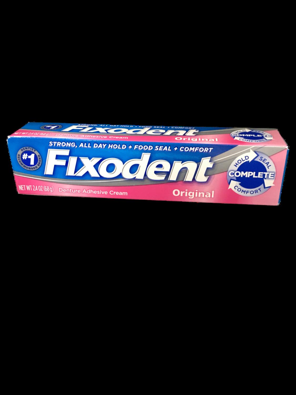 Adhesivo para Dentaduras Fixodent Original 2.4 onz