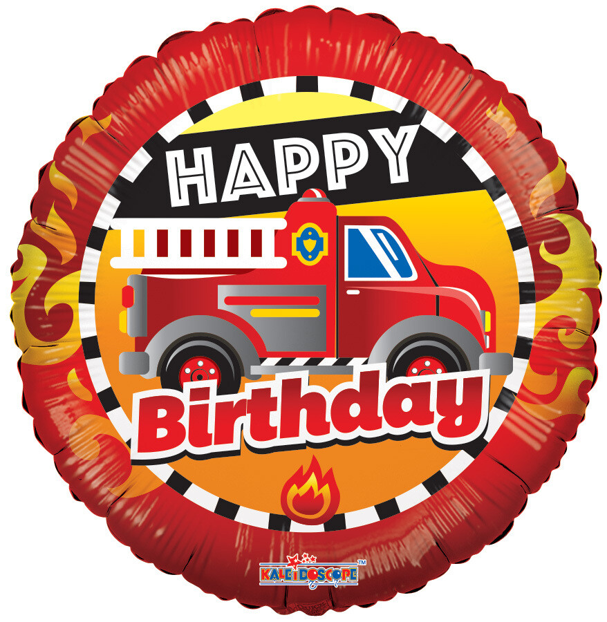 Globo Birthday Fire Truck