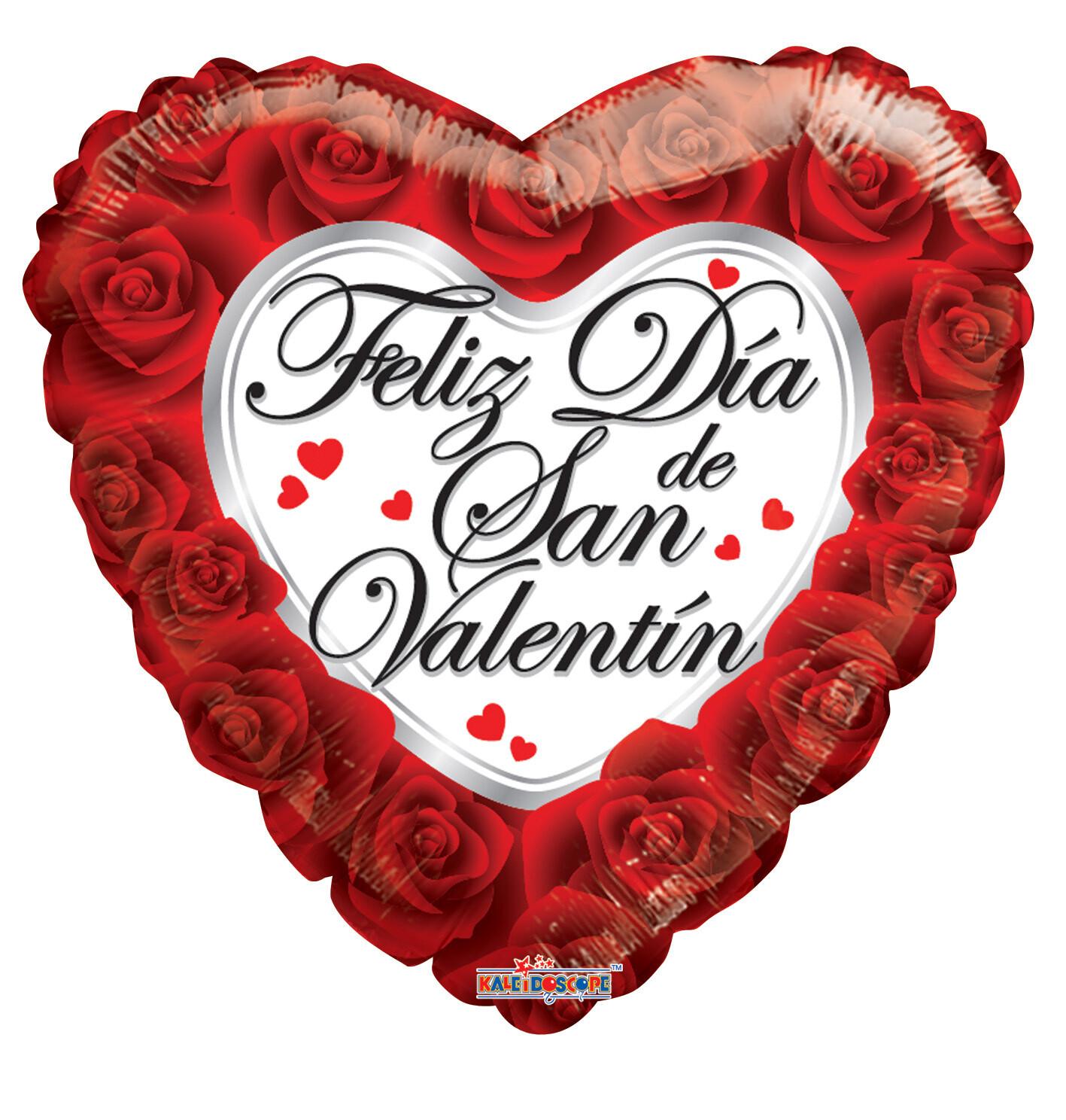Globo Feliz Dia De San Valentín Roses