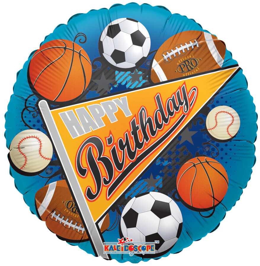 Globo Birthday Sports Pennant