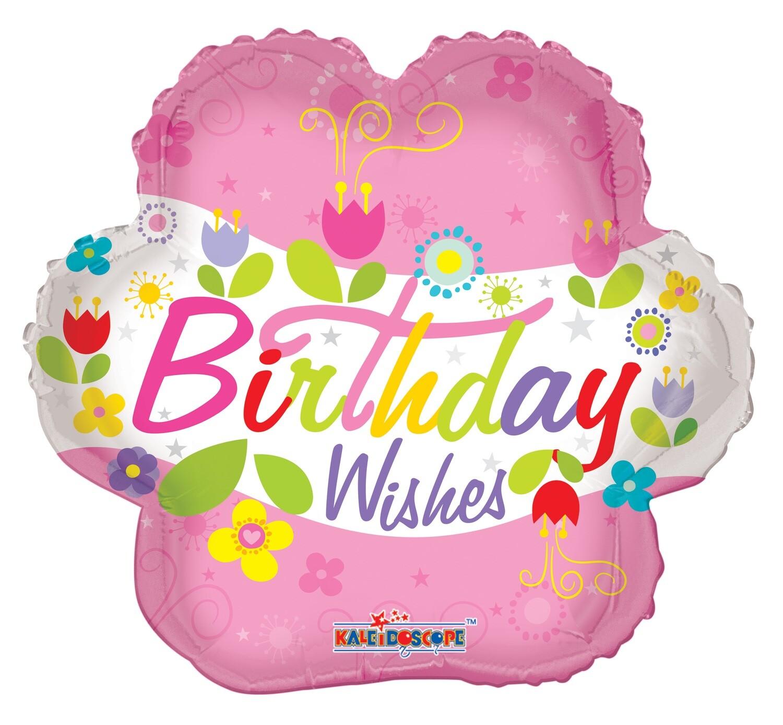 Globo Birthday Wishes Flower