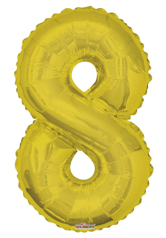 Globo Número 8 Oro