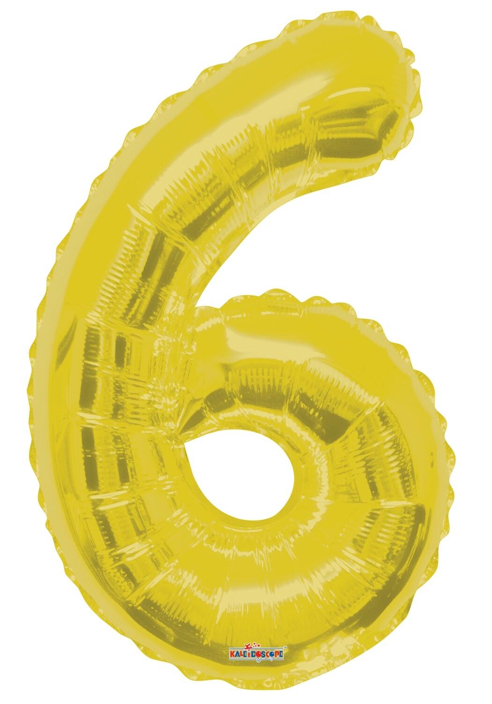 Globo Número 6 Oro