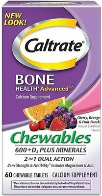Caltrate Chewables 600+ D3