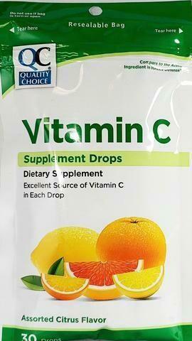 Pastillas para la tos QC Vitamin C