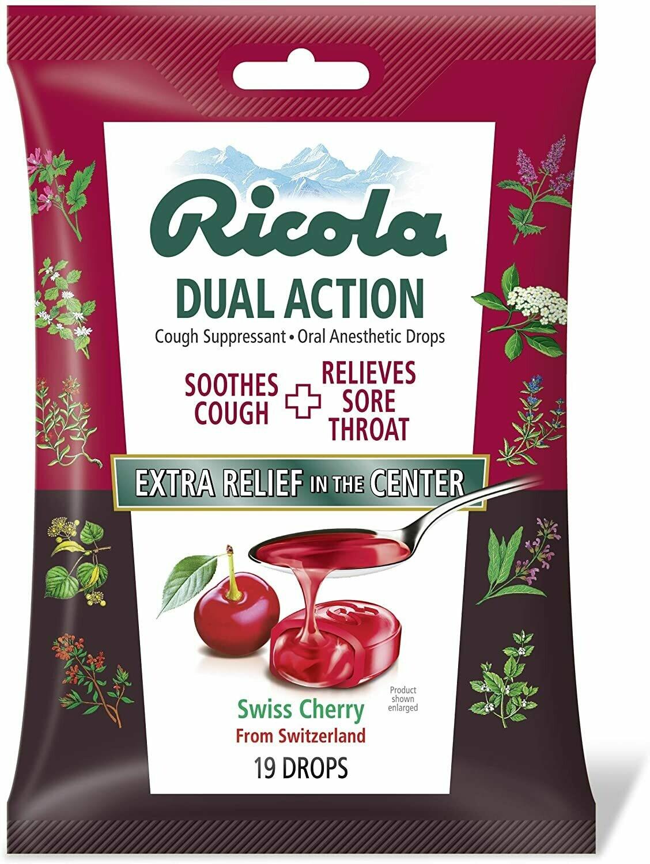 Pastilla para la tos Ricola Swiss Cherry