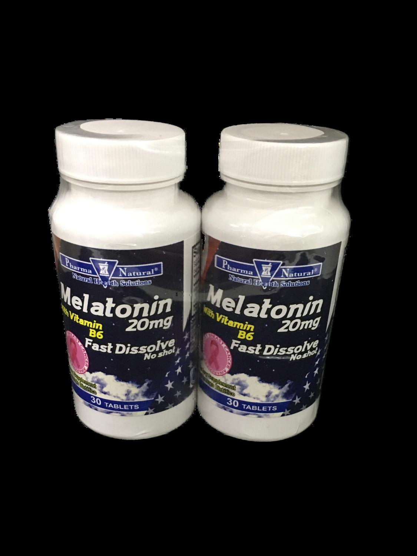 Suplemento Melatonina con vitamina B6 20mg