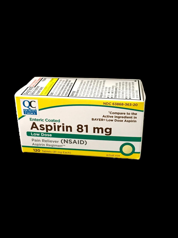 QC Aspirin 81 mg