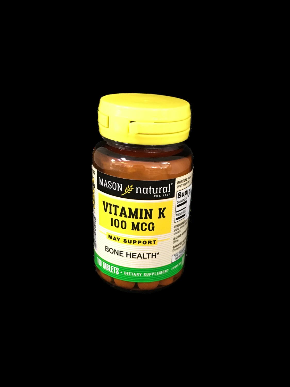 Suplemento Vitamina K 100 mcg