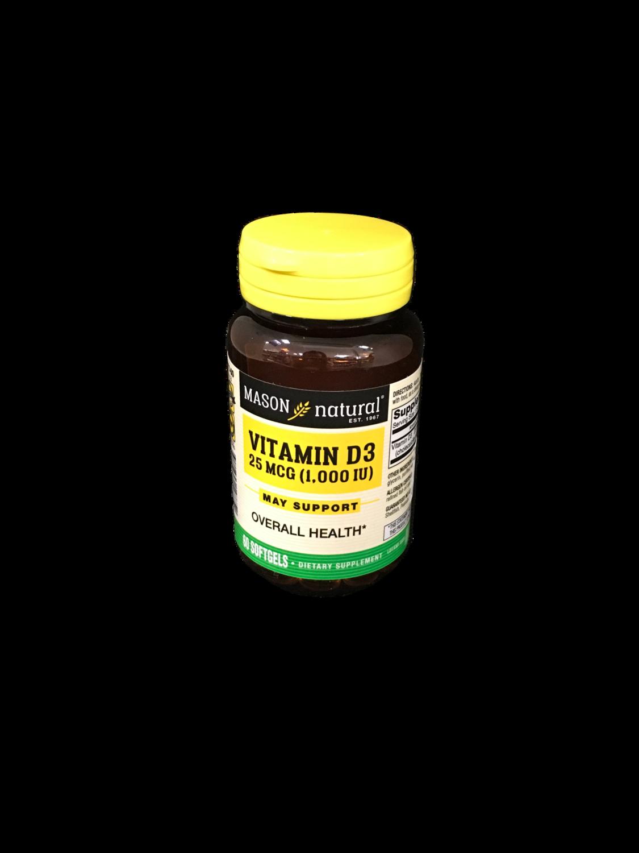 Suplemento Vitamina D3 25 mcg