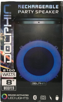 Bocina recargable 2100 watts