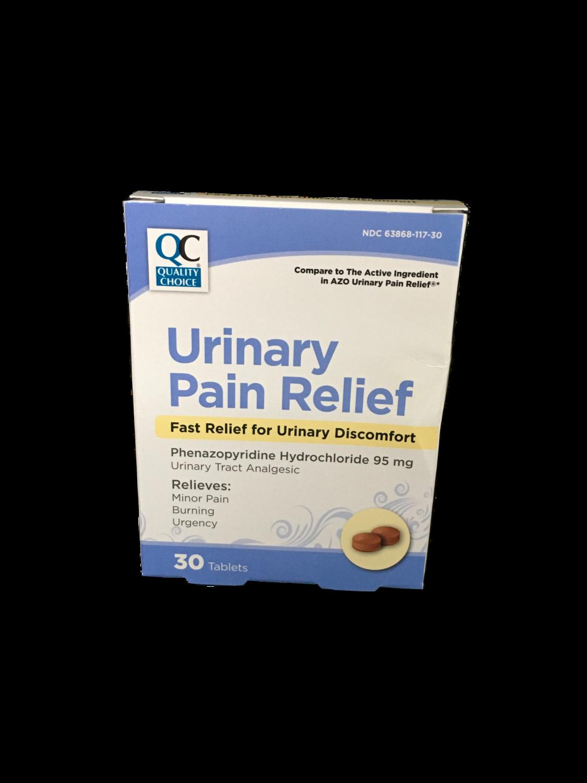 QC Urinary Pain Relief 30 tabletas
