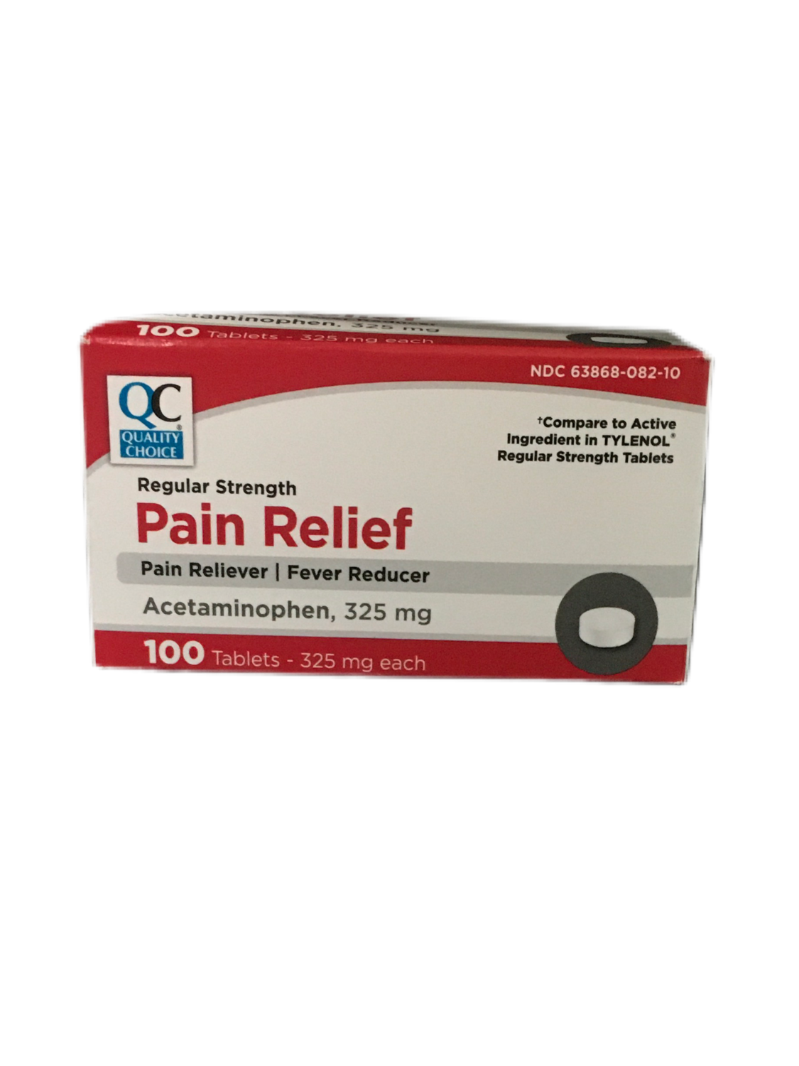 QC Pain Relief 325 mg 100 tablets