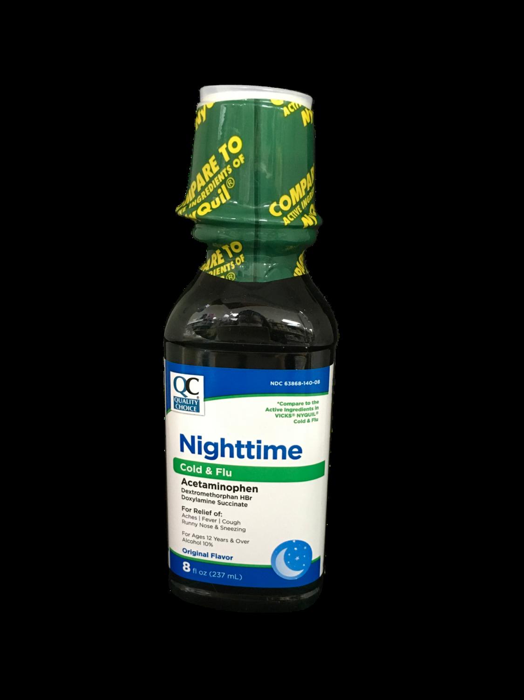 QC Nighttime Cold & Flu sabor original