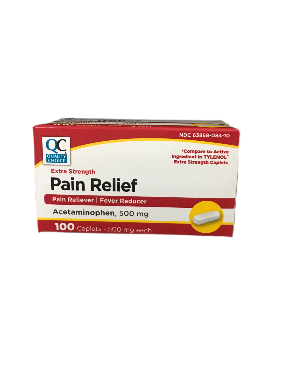 QC Pain Relief Extra Strength 100 caplets