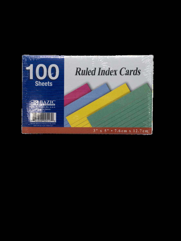 Index Cards Colores 3x5