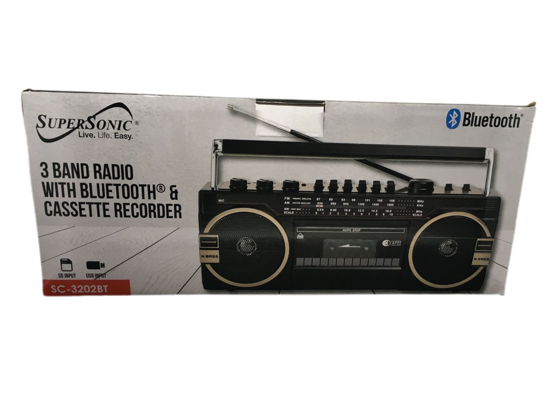 Supersonic Radio 3 Bandas con Bluetooth y Cassette