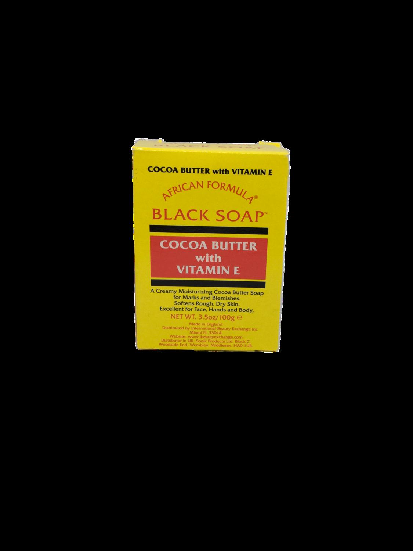 Black Soap Cocoa Butter with Vitamin E