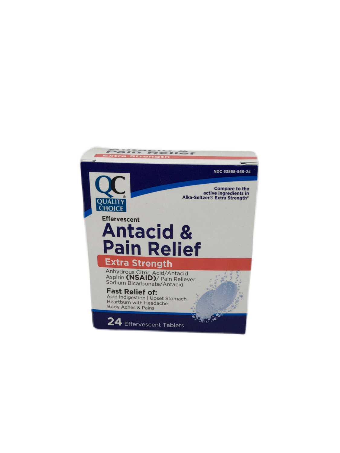 QC Antacid & Pain Relief Extra Strenght