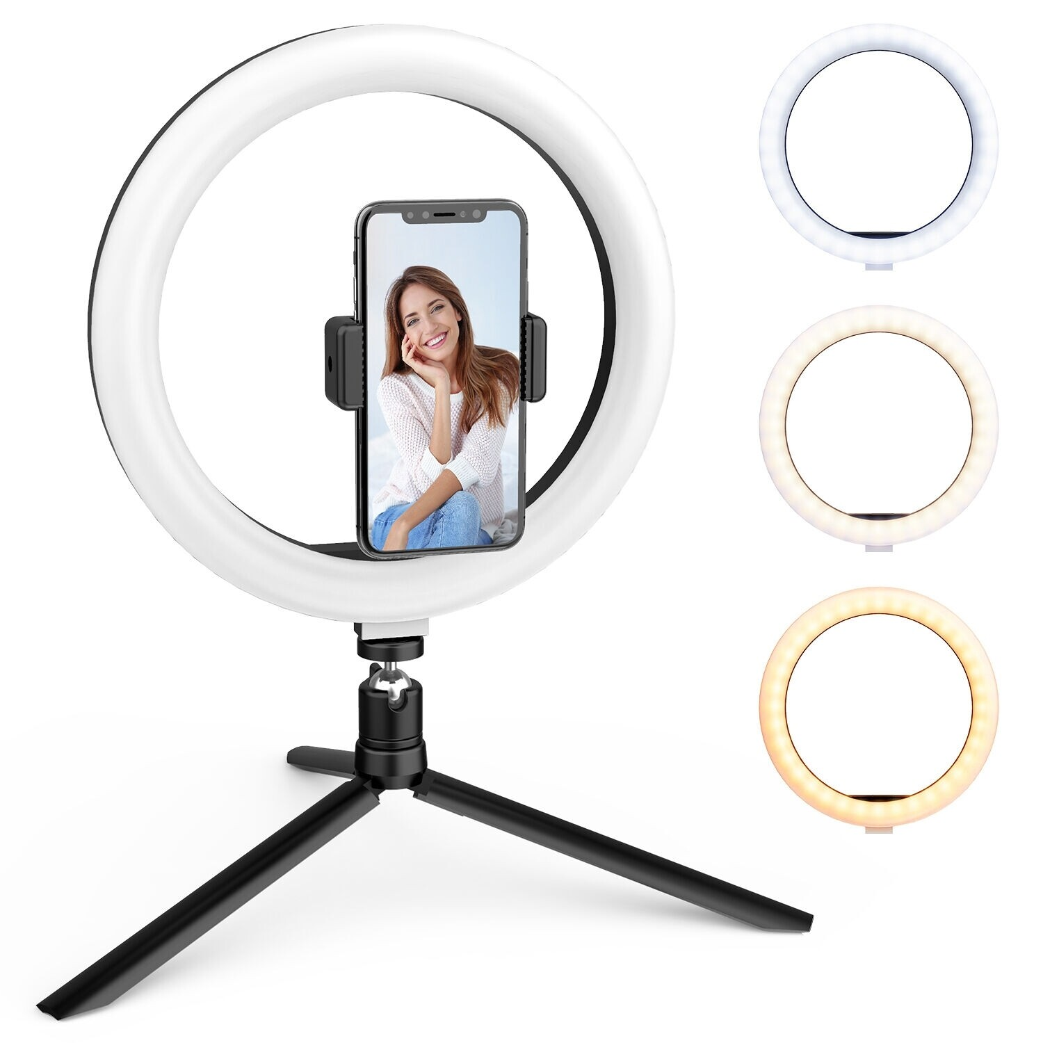 """Portable Studio with 10"""" Led Ring"""