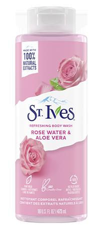 St.Ives Body Wash Rose Water & Aloe Vera