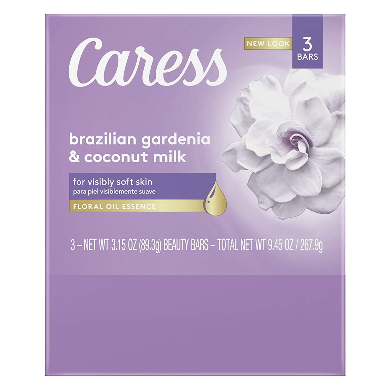 Jabón Caress Brazilian Gardenia & Coconut Milk