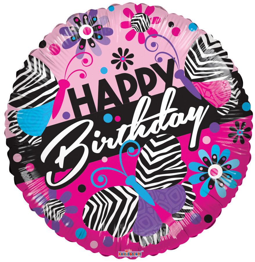 Globo Happy Birthday Zebra