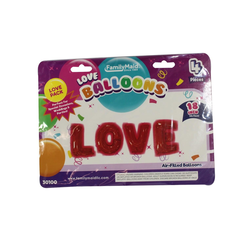 """Love Ballons 18"""""""