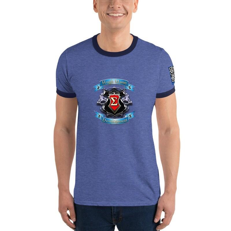 Hugh Mann Development Signature Collection Ringer T-Shirt by Evolved Attitude