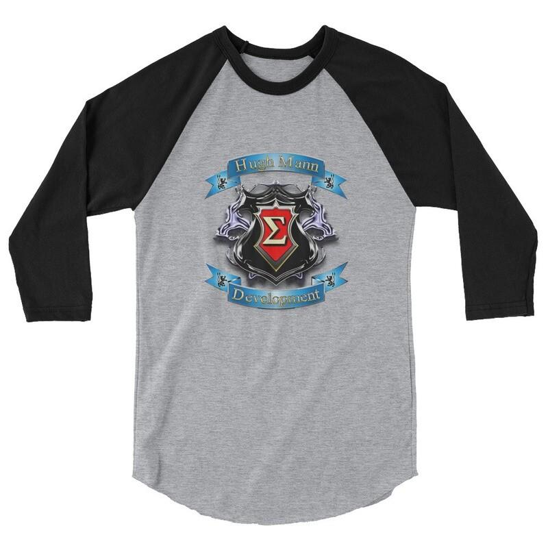 Hugh Mann Development Signature Collection Baseball 3/4 raglan sleeve shirt by Evolved Attitude