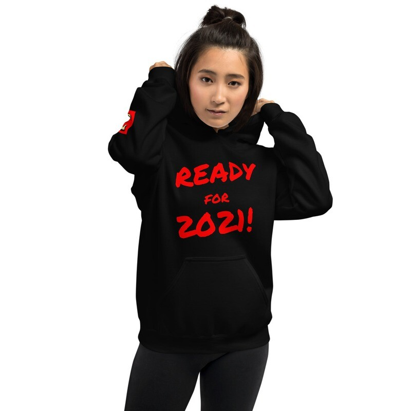 Ready for 2021! New Year's Eve Hoodie Pullover by Evolved Attitude