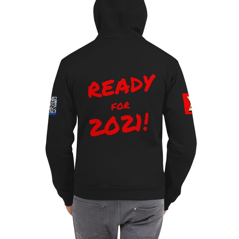 Ready for 2021 New Year's Eve Zippered Hoodie Sweate by Evolved Attitude