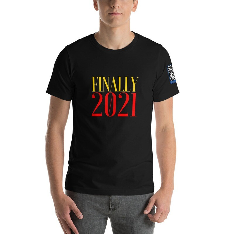 Finally 2021 New Year's Day Short-Sleeve Unisex T-Shirt by Evolved Attitude