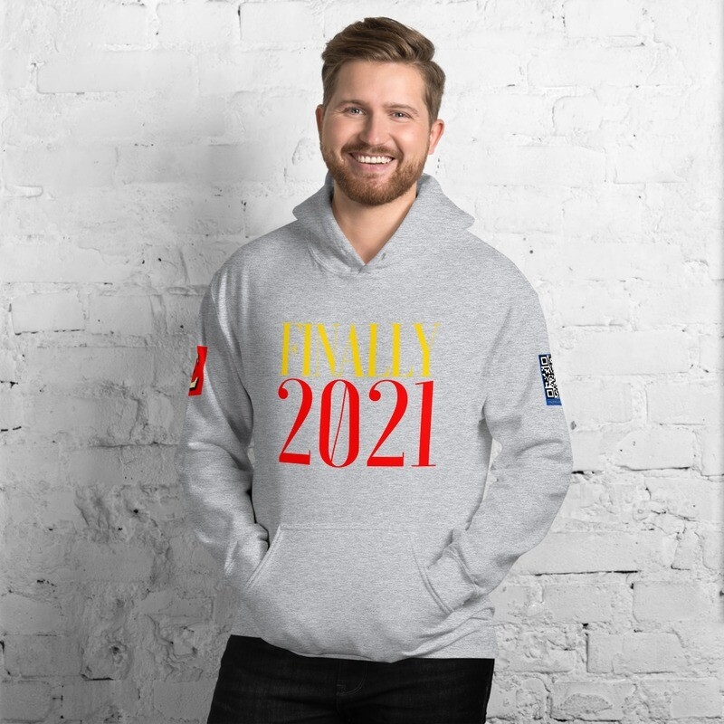 Finally 2021 New Year's Day Hoodie Pullover by Evolved Attitude