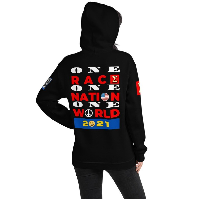 One Race New Year's Day Hoodie Pullover by Evolved Attitude