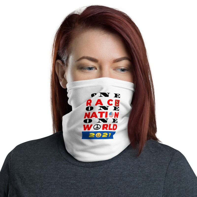 One Race New Year's Day Neck Gaiter by Evolved Attitude