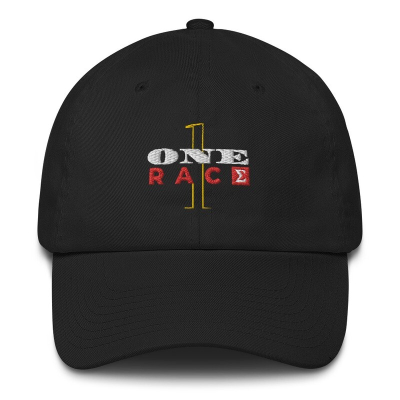 One Race New Year's Eve Distressed Dad Hat by Evolved Attitude