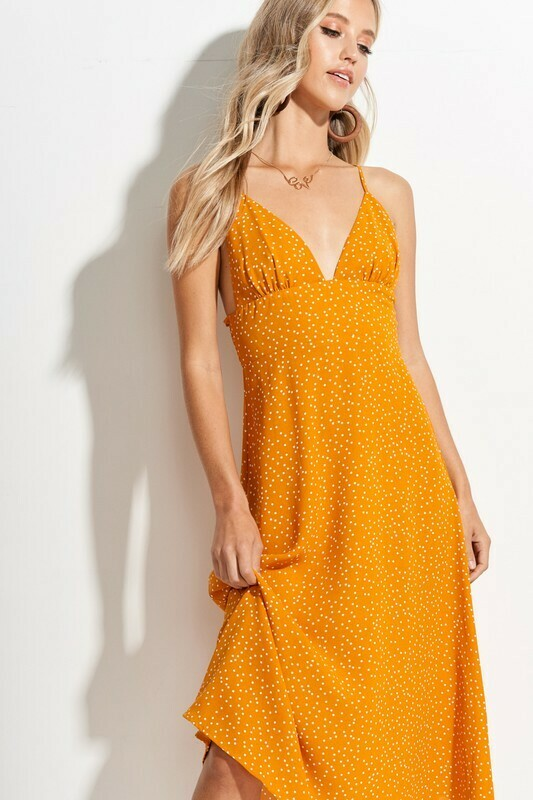 honey polka dot dress