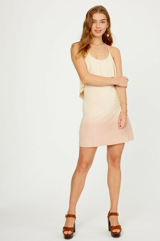 ombre blush dress