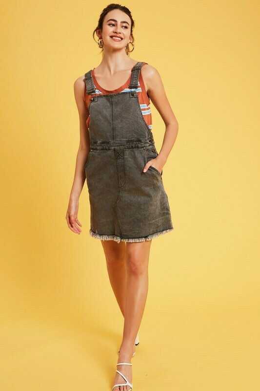 gray denim overall