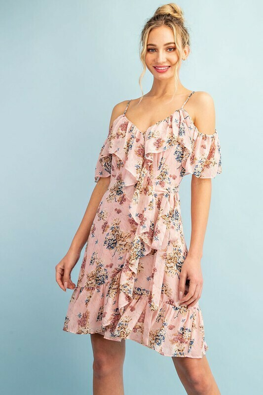 blush floral mini