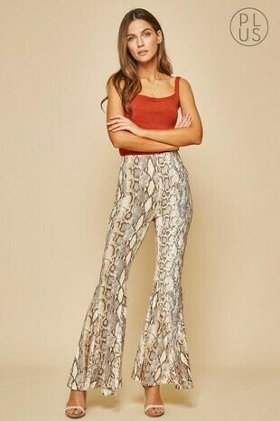snake flare leggings