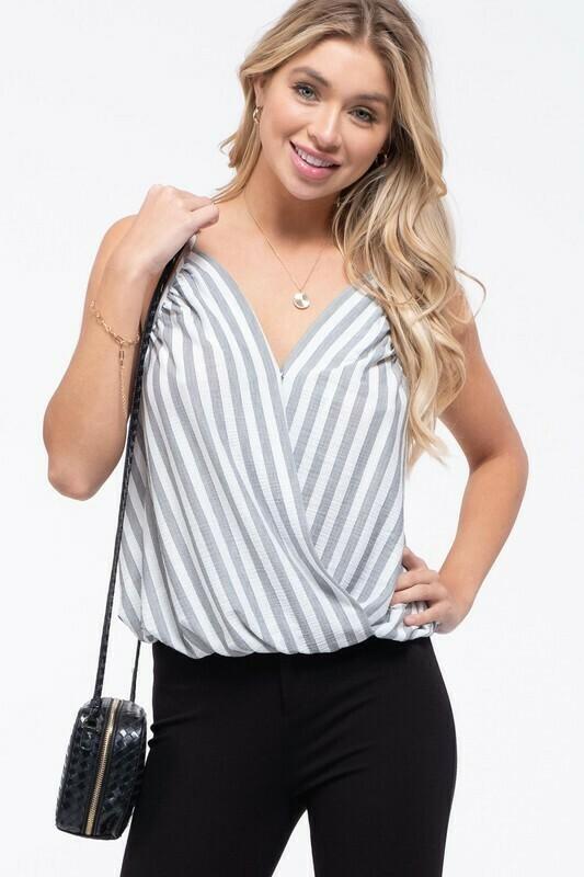Striped Wrap Cami
