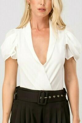 White Ruffle Bodysuit