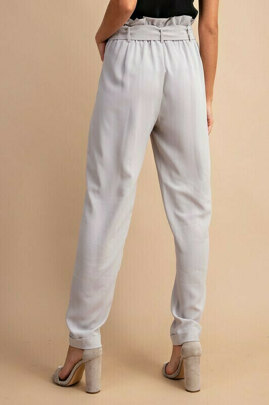 Gray Paperbag Pants