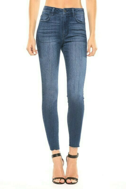 High Rise Ankle Cut Jeans