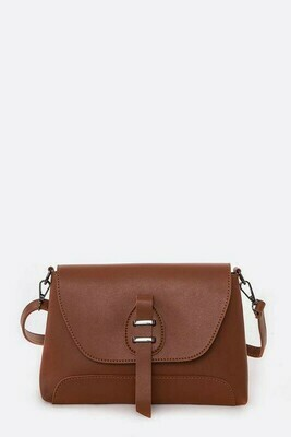 Tan Flap Crossbody