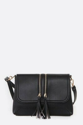 Black Zipper Crossbody