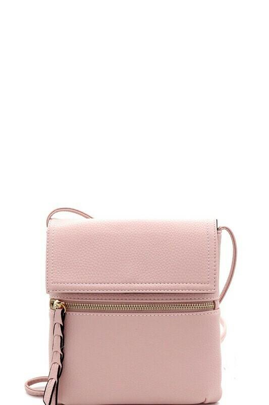 blush crossbody bag