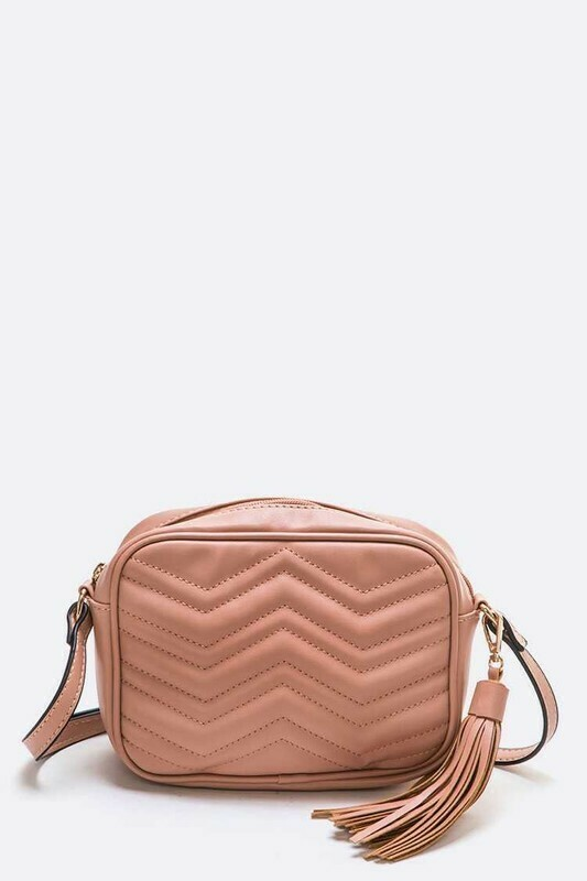 Rose Quilted Crossbody